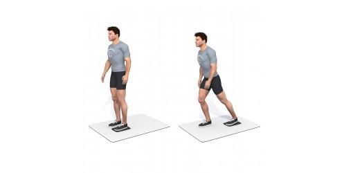 بدنسازی - حرکت ورزشی سُر خوردن پا به عقب، چپ- فلوین