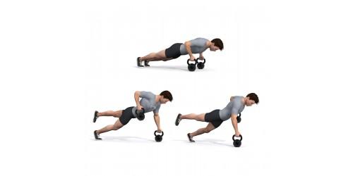 بدنسازی - حرکت ورزشی بالاآوردن، شنا، پارو، ضربدری، یک در میان- دو کتل بل